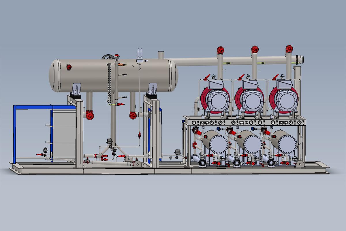 Vista 3D Unidad Compresora NH3
