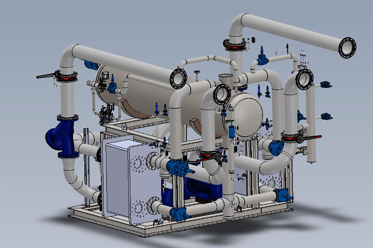 Vue 3D de l'Unité de Pompage Glycol-NH3
