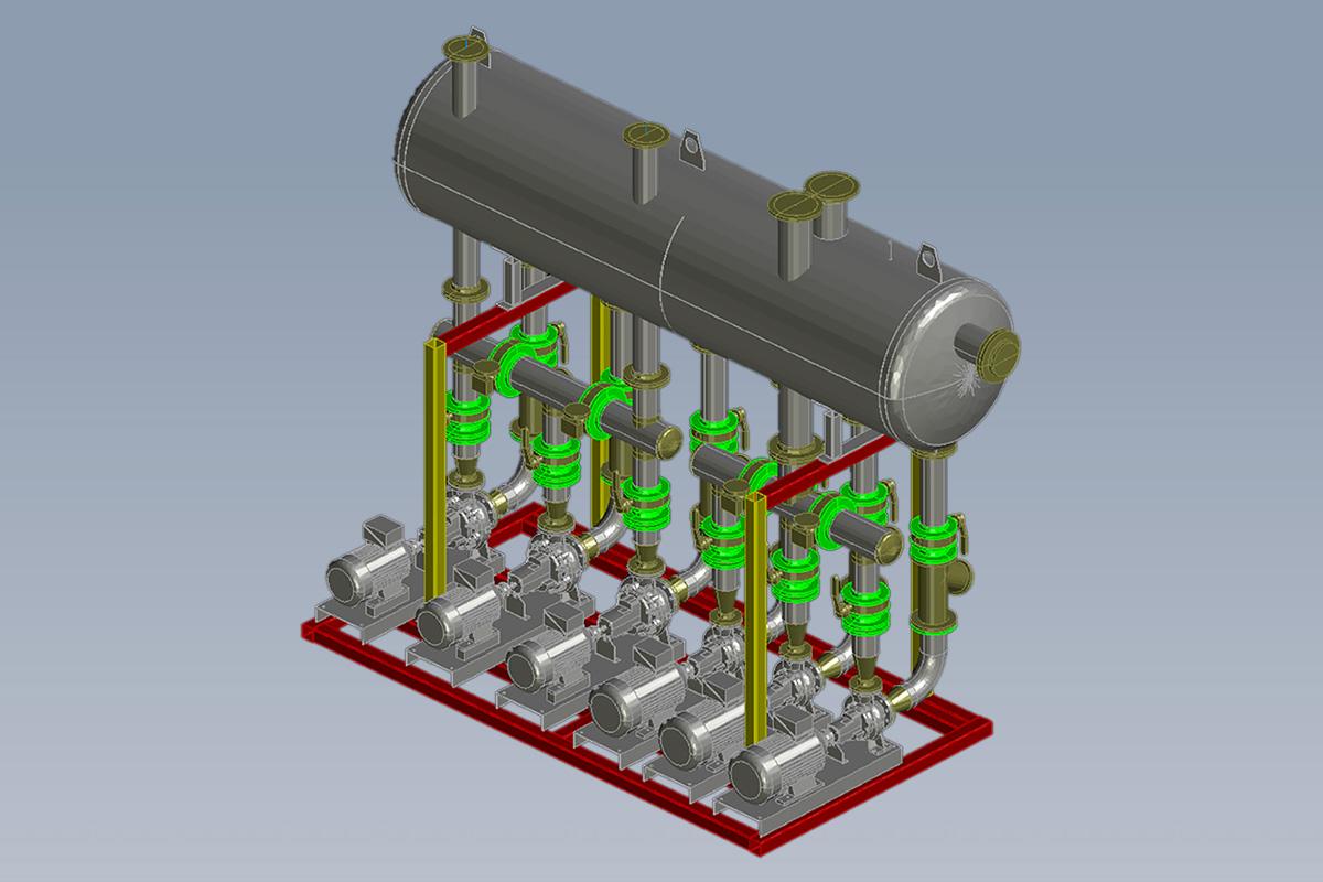 Vue 3D de l'Unité de Pompage de Glycol