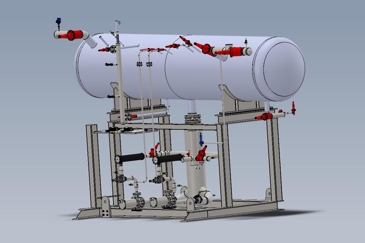 Vue 3D Unité de Pompage CO2